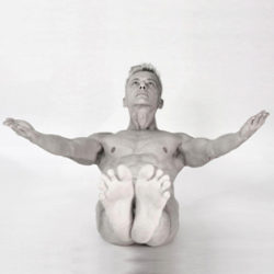 Bold Naked Yoga's Blog on the best time to exercise Joschi Schwarz practicing Nude Yoga
