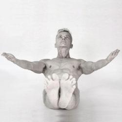 Bold Naked Yoga's Blog on the best time to exercise Joschi Schwarz practicing Nude Yoga